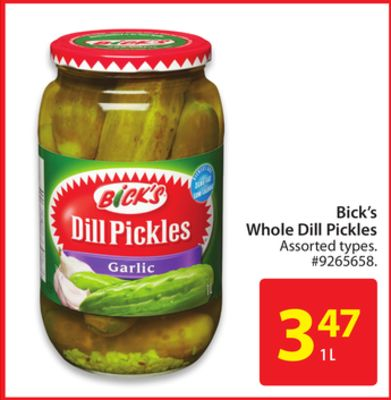 Bick's Whole Dill Pickles