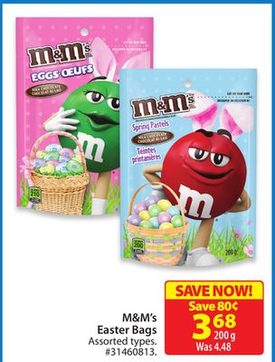 M&m's Easter Bags