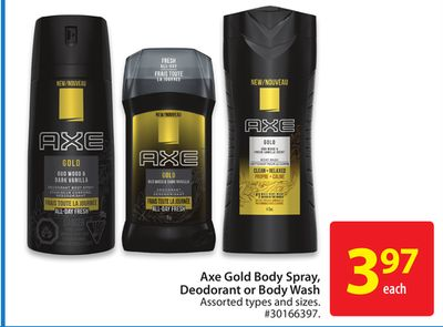 Axe Gold Body Spray - Deodorant or Body Wash