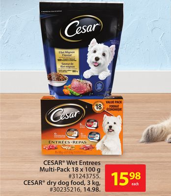 Cesar Wet Entrees Multi-pack