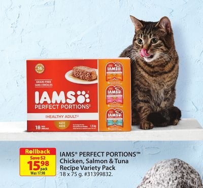 Iams Perfect Portions Chicken - Salmon & Tuna Recipe Variety Pack