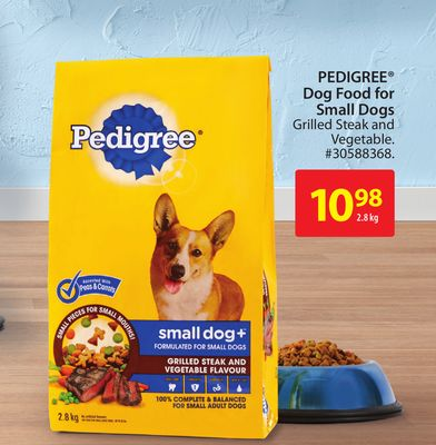Pedigree Dog Food For Small Dogs