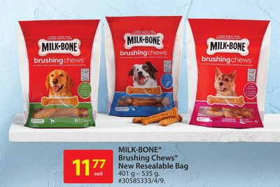 Milk-bone Brushing Chews New Resealable Bag