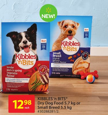 Kibbles'n Bits Dry Dog Food 5.7 Kg Or Small Breed 5.5 Kg