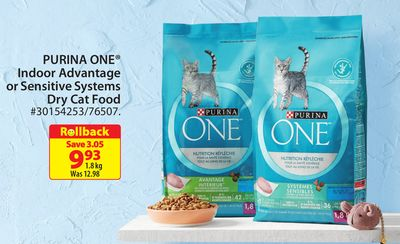 Purina One Indoor Advantage Or Sensitive Systems Dry Cat Food