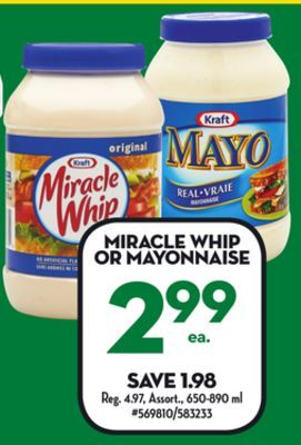 kraft miracle whip or mayonnaise on sale. Black Bedroom Furniture Sets. Home Design Ideas