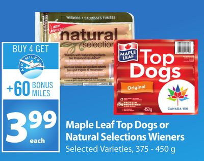 Natural Hot Dogs Maple Leaf
