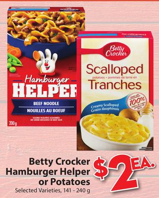 Betty Crocker Hamburger Helper or on sale | Salewhale.ca