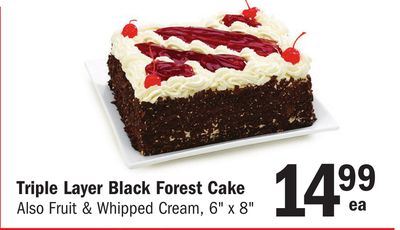 Triple Layer Black Forest Cake on sale | Salewhale.ca