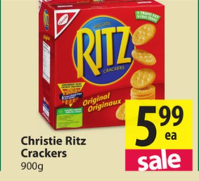 Ritz Crackers are a brand of snack cracker introduced by Nabisco in Outside the United States, the Ritz Cracker brand is made by a subsidiary of Mondelēz International. They are circular, salted lightly on one side, and have a small scalloped edge.