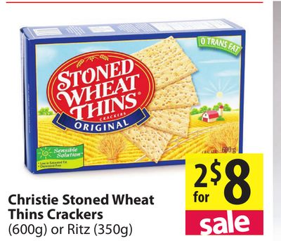 Christie Stoned Wheat Thins Crackers On Sale Salewhale Ca