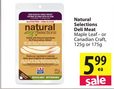Maple Leaf Natural Selections Turkey