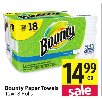bounty paper towel add Bounty's diamond weave texture is surprisingly strong versus the leading bargain brand bounty basic paper towels are 50% stronger when wet vs leading 11 x 8.