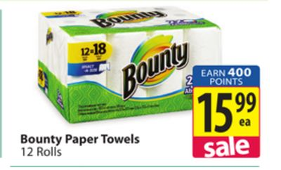 bounty paper towels on sale