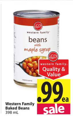Western Family Baked Beans on sale | Salewhale.ca