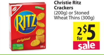 Christie Ritz Crackers 200g Or On Sale Salewhale Ca