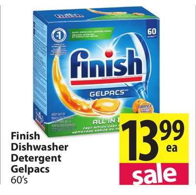Finish Dishwasher Detergent Gelpacs on sale | Salewhale.ca