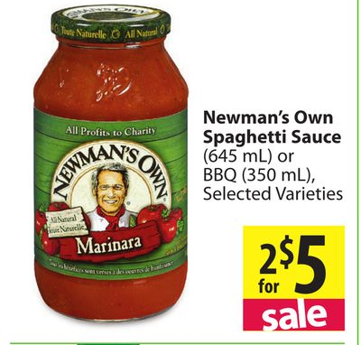 Newman's own pasta sauce coupon 2018