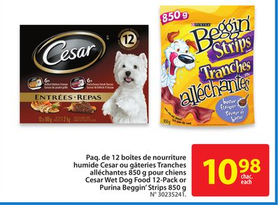 Cesar Wet Dog Food Buy One Get One Free