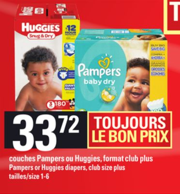 Couches Pampers Ou en solde cette semaine   Salewhale.ca