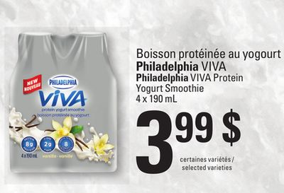 Philadelphia Viva Protein Yogurt Smoothie - 4 X 190 Ml