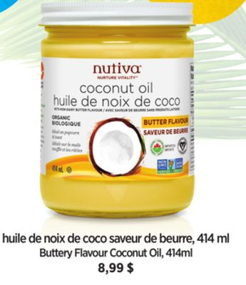 Buttery Flavour Coconut Oil - 414ml