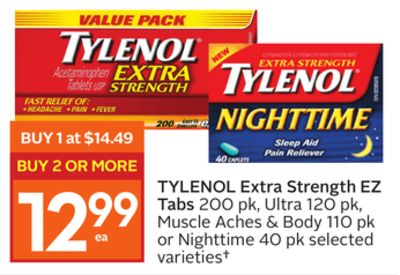Tylenol Cold Sore Throat Extra Strength advise