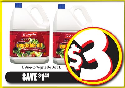 D'angelo Vegetable Oil 3 L