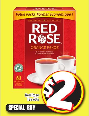 Red Rose Tea 60's