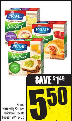 Prime Naturally Stuffed Chicken Breasts Frozen 284-340 g