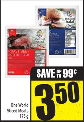 One World Sliced Meats 175 g