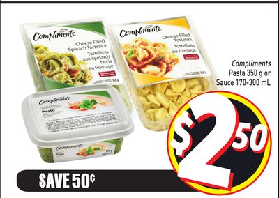 Compliments Pasta 350 g or Sauce 170-300 mL