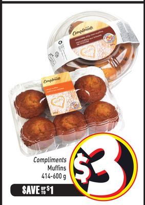 Compliments Muffins 414-600 g