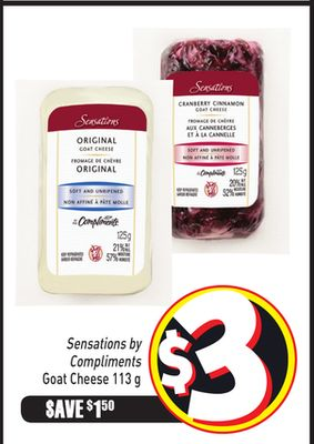 Sensations By Compliments Goat Cheese 113 g