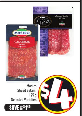 Mastro Sliced Salami 125 g - Selected Varieties