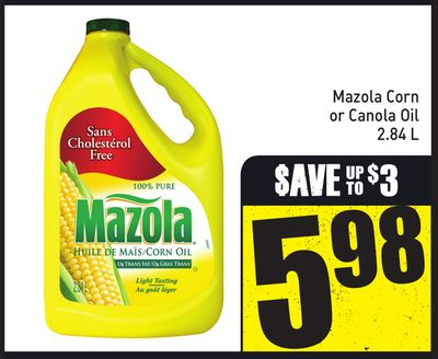Mazola Corn or Canola Oil 2.84 L