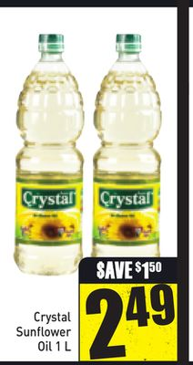 Crystal Sunflower Oil 1l
