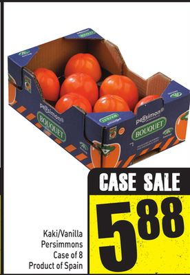 Kaki/vanilla Persimmons Case of 8 Product of Spain