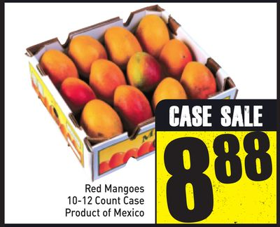 Red Mangoes 10-12 Count Case
