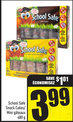 School Safe Snack Cakes - 480 g