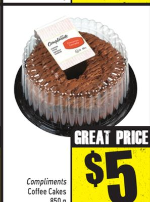 Compliments Coffee Cakes - 850 g