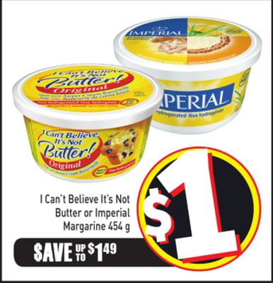 I Can't Believe It's Not Butter or Imperial Margarine 454 g