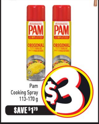 Pam Cooking Spray 113-170 g