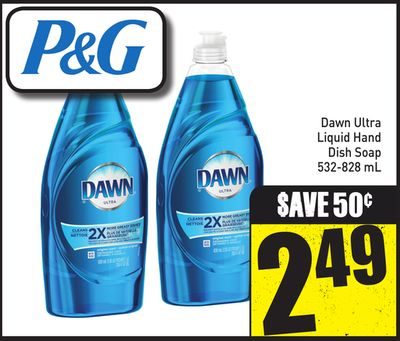 Dawn Ultra Liquid Hand Dish Soap 532-828 mL