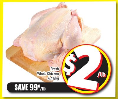 Fresh Whole Chicken 4.41/kg