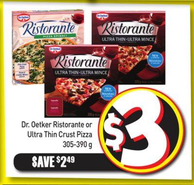Dr. Oetker Ristorante or Ultra Thin Crust Pizza 305-390 g