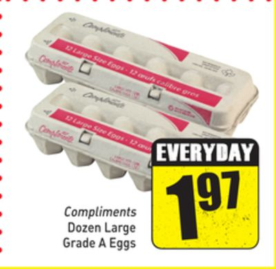Compliments Dozen Large Grade A Eggs