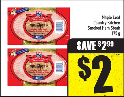 Maple Leaf Country Kitchen Smoked Ham Steak 175 g