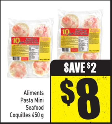 Aliments Pasta Mini Seafood Coquilles 450 g