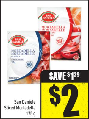 San Daniele Sliced Mortadella 175 g